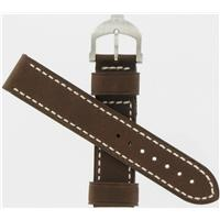 Authentic Swiss Army Brand 18mm Brown Stitched Leather watch band