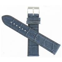 Authentic Swiss Army Brand 21mm Blue Leather watch band