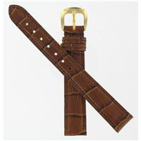 Authentic Coach 14/12mm Brown Crocodile Grained Leather Strap watch band