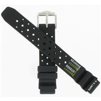 Authentic Citizen 15/18mm Black Rubber Strap 59-G0080 watch band