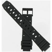 Authentic Casio 16/19mm Black Resin Band watch band