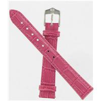 Authentic Wenger 14mm Pink Crocodile Grain watch band