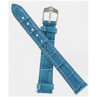 Authentic Wenger 14mm Blue Crocodile Grain watch band