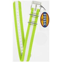 Authentic Fossil 18mm Lime Green and White Stripe Nylon Field watch band