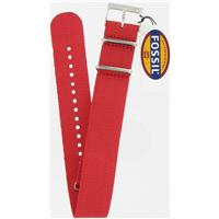 Authentic Fossil 18mm Red Nylon Field watch band