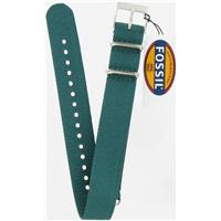 Authentic Fossil 18mm Teal Green Nylon Field watch band
