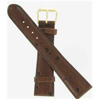 Authentic DeBeer 20mm Brown Ostrich Grain watch band