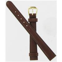 Authentic DeBeer 12mm Brown Sierra Leather watch band