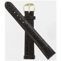 Authentic DeBeer 16mm Brown Baby Crocodile Grain watch band