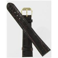 Authentic DeBeer 19mm Brown Baby Crocodile Grain watch band