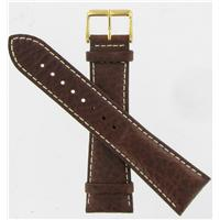 Authentic DeBeer 24mm Brown Sport Leather watch band