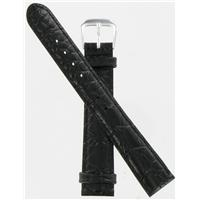 Authentic DeBeer 16mm Black Alligator Grain watch band