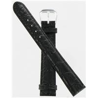 Authentic DeBeer 16mm Black Alligator Grain watch band