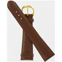 Authentic DeBeer 20mm-Brown-Gold Tone Buckle watch band