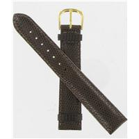 Authentic DeBeer 18mm DkBrown Long Lizard BW14 watch band