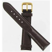 Authentic DeBeer 19mm Brown Smooth Leather Chrono watch band