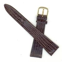 Authentic Bulova 19mm Brown Genuine Lizard watch band