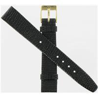 Authentic Bulova 14mm Genuine Leather-Black watch band