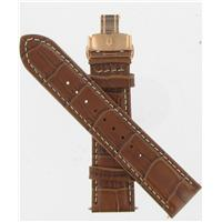 Authentic Bulova 22mm Alligator Grain Leather-Brown watch band