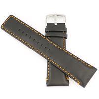 Authentic Bulova Genuine Leather-Black watch band