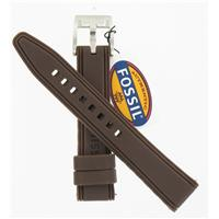 Authentic Fossil 18mm Brown Logo Silicone Strap watch band