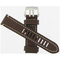 Authentic Luminox 23/22mm Brown Leather Strap watch band
