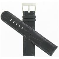 Authentic Hamilton 21/20mm Black Leather Strap watch band