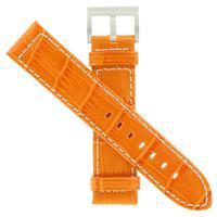 Authentic Hamilton 21/20mm- Alligator Grain-Orange watch band