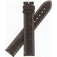 Authentic Longines 19mm Brown Crocodile Grain-Long watch band