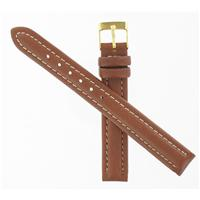 Authentic Town & Country 12mm Brown Leather Regular Gold Tone Buckle  watch band
