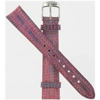 Authentic Michele 16mm Teju  Leather Metailic Pink watch band