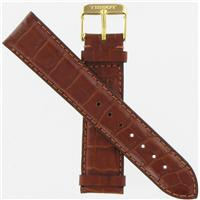 Authentic Tissot 20mm Genuine Leather Brown-Long watch band