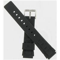 Authentic All Strap 18mm Black Rubber watch band