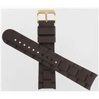 Authentic Swiss Army Brand 22mm Large Brown Rubber watch band