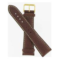 Authentic DeBeer 24mm Brown Long Sport Leather Chrono watch band