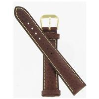 Authentic DeBeer 18mm Brown Sport Leather Chrono watch band
