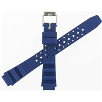 Authentic ZRC 14mm Blue Rubber Strap watch band