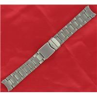 Authentic ZRC 18mm Silver Tone S/S Metal watch band