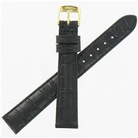 Authentic ZRC 14mm Black Calfskin watch band