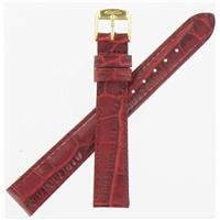 Authentic ZRC 14mm Red Calf watch band