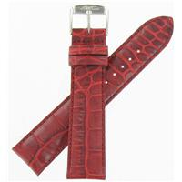 Authentic ZRC 18mm Red Calfskin watch band