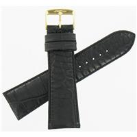Authentic ZRC 24mm Black Calfskin watch band