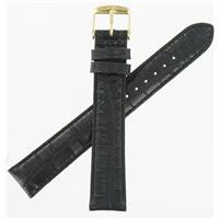Authentic ZRC 18mm Black Calfskin watch band